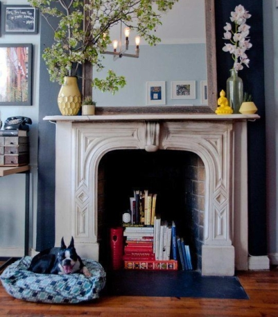 fireplace - apartment therapy